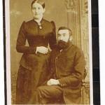 Anne Elisabeth og Iver Jessen på møllen, 1875
