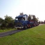 Første traktor ankommer til møllen